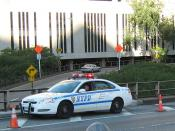English: A NYPD police car in New York.
