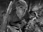 Talbot in wolf form, as portrayed by Lon Chaney, Jr. in The Wolf Man.