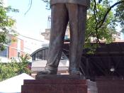 English: Bronze statue of W.C. Handy in Handy Park, Memphis, TN