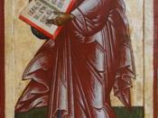 Paul the Apostle, Russian icon from first quarter of 18th cen.