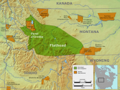 Tribal territory of Flathead