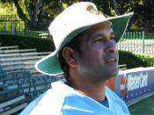 English: Sachin Tendulkar at Adelaide Oval