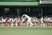 Indian Cricketer (sachin I think) plays a stroke