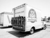 Webvan Original caption: Truck of defunct grocery delivery company Webvan.