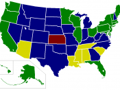 Map of U.S. Minimum Wage laws