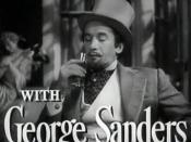 Cropped screenshot of George Sanders from the trailer for the film The Picture of Dorian Gray.