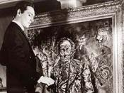 Dorian faces his portrait in the 1945 The Picture of Dorian Gray