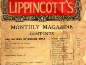 English: A picture of the cover of the July, 1890 edition of Lippincott's Monthly Magazine, where