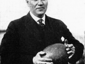 Photograph University of Michigan athletic trainer, Harry Tuthill