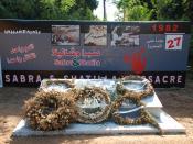 English: Sabra & Shatila Massacre 1982 Memorial in Sabra, South Beirut Deutsch: Massaker von Sabra und Schatila 1982, Mahnmal in Sabra, Südbeirut