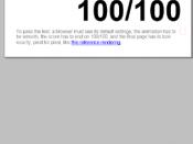 English: ACID 3 web standards test score of Internet Explorer Mobile