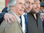 English: Henry Winkler, Adam Sandler, and Kevin James at a ceremony for Sandler to receive a star on the Hollywood Walk of Fame.