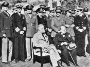 American president Franklin D. Roosevelt and British Prime Minister Winston Churchill