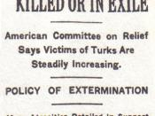 This is an article published first in the newspaper, New York Times on December 15, 1915. It is on the Armenian Genocide.