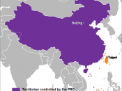 The People's Republic of China (purple) and the Republic of China (Taiwan) (orange).