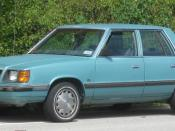 1985-1989 Dodge Aries photographed in College Park, Maryland, USA. Category:Dodge Aries