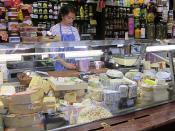 Cheese vendor, market