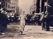 Boston Marathon Finish Line.1910. Author: Unknown.