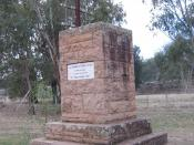 Charles Sturt memorial at Narrandera, New South Wales