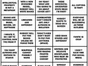The Traditional Publishing Bingo Card