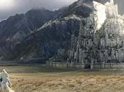 Gandalf approaching Minas Tirith in the film The Lord of the Rings: The Return of the King by Peter Jackson.