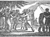 An illustration of liberated slaves arriving in Sierra Leone.