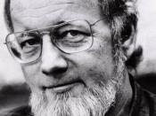 English: Donald Barthelme, an American author and a co-founder of The University of Houston Creative Writing Program