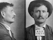 English: Mug shot of , who was executed by firing squad on May 14, 1913 at .