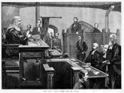 The trial of Ned Kelly. Source http://www.slv.vic.gov.au/miscpics/0/0/4/doc/mp004429.shtml