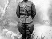 Postcard photo of Harry S. Truman taken in France during World War I. Noted on the reverse of the postcard