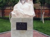 Statue of Wei Zheng, an Ancient Chinese celebrity