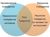 English: Human behavior and Intelligent behavior diagram Русский: Диаграмма: поведение человека и разумное поведение