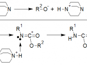 Mechanism of chemical reaction of polyurethane polymerization catalyzed by tertiary amine.