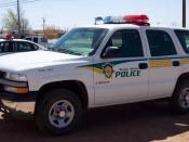 English: A Navajo Police Chevrolet Tahoe.