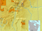 Location of Eight Northern Pueblos and neighboring pueblos in New Mexico