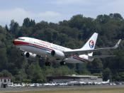 English: China Eastern Airlines YN022 2357 (CEA) 737-700 Exteriors and Take off