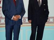 Jiang Zemin and John Howard at Madame Tussaud's London