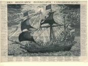 English: Allegorical representation of the Dutch Republic as a ship.