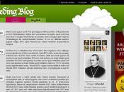 English: Screenshot of Gregor Mendel's blog from Mission 8