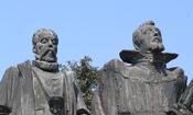 Česky: Praha, Hradčany - Tycho Brahe a Johannes Kepler, detail sousoší