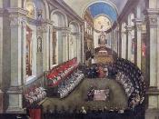 Council of Trent in Santa Maria Maggiore church, Museo Diocesano Tridentino, Trento (Italy)