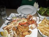 Coopers Arms Seafood for two