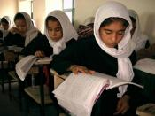 Young female students at Samangan School in Afghanistan.