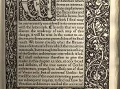 English: Kelmscott Press - The Nature of Gothic by John Ruskin (first page of text, with ornamented border).