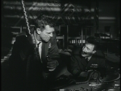 English: General Jack D. Ripper (Sterling Hayden) shares an intimate moment with Group Captain Lionel Mandrake (Peter Seller) in in Stanley Kubrick's 1964 film, Dr. Strangelove.