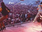 Slade on stage at Reading Festival 1980