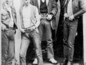 Slade in their skinhead phase during 1969 from left: Powell, Lea, Holder, Hill