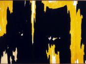 Clyfford Still, 1957-D No. 1. During the 1950s Still's paintings were characterized as being related to Color Fields
