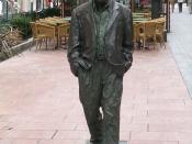 Español: Estatua dedicada a Woody Allen en Oviedo, Asturias.