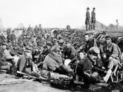 Photograph # B-157 Union Troops before Fredericksburg May 1863-not Petersburg Virginia 1865
